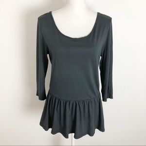 Zara T-shirt Collection Gathered Waistline Peplum